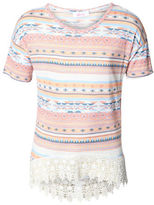 Dex Aztec Cotton-Blend Top