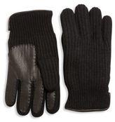 Portolano Paneled Cashmere Gloves