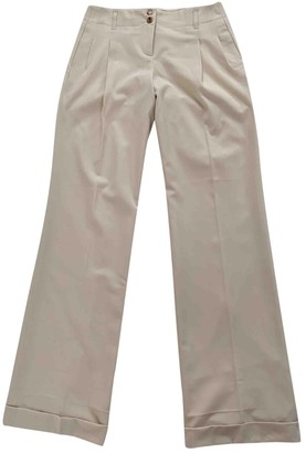 Michael Kors Beige Cloth Trousers for Women