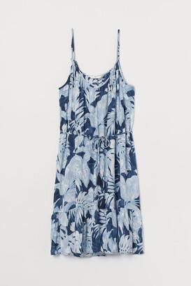H&M Tie-detail Dress - Blue