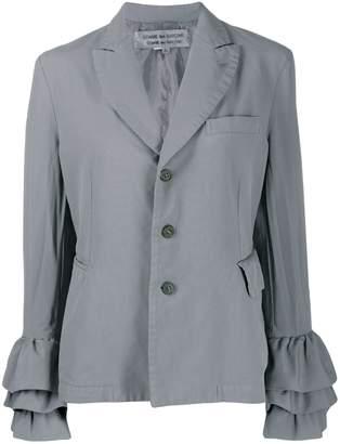 Comme des Garcons Pre-Owned ruffled sleeves slim jacket