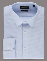 Autograph Pure Cotton Tailored Fit Checked Shirt