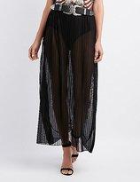 Charlotte Russe Sheer Pleated Mesh Skirt