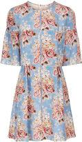 Vilshenko Sky Blossom Silk Morgan Dress