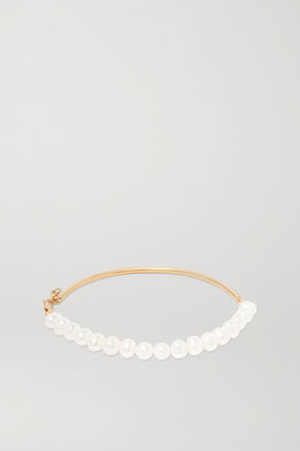 Magda Butrym Gold-plated Pearl Anklet - One size