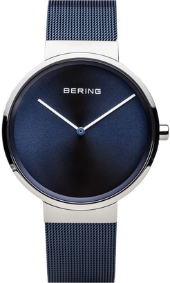 Bering Unisex Blue Stainless Milanese BraceletWatch