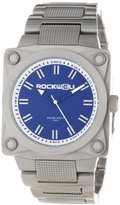Rockwell Time Unisex SF107 747 Stainless Steel Band Blue Dial Watch