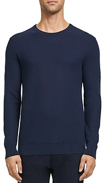 Theory Riland Pique Cotton Crewneck Sweater