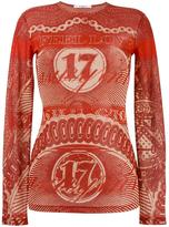 Givenchy I feel Love dollar print top