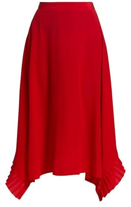 Stella McCartney Ashlyn Silk Ruffle Pleat Midi Skirt