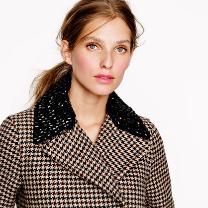 J.Crew Captain coat in jeweled houndstooth