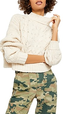 Free People Merry Go Round Cable-Knit Sweater
