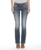 Vigoss Medium Wash Stone-Flap Pocket New York Bootcut Jeans