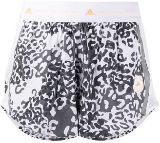 adidas by Stella McCartney TruePace leopard-print shorts