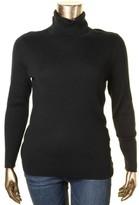 Lauren Ralph Lauren Womens Plus Long Sleeves Ribbed Turtleneck Sweater