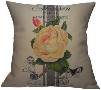 """Polkadot Apple Pillows French Rose Stripe Pillow, 16""""x16"""""""