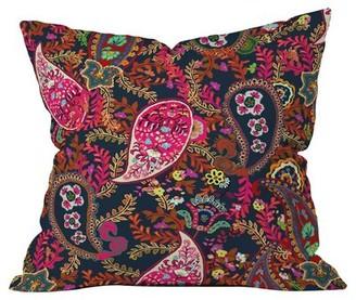 "East Urban Home Boho Paisley Indoor/Outdoor Throw Pillow Size: 16"" x 16"""