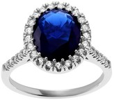 Journee Collection 2 4/5 CT. T.W. Oval-cut Cubic Zirconia Halo Prong Set Ring in Sterling Silver