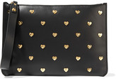 Sophie Hulme Talbot Embellished Leather Pouch - Black
