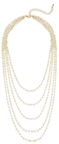 Kenneth Jay Lane Quintuple Row Pearl Layer Necklace