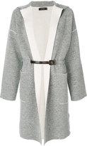 Cividini long belted cardigan - women - Polyamide/Spandex/Elastane/Wool - 44