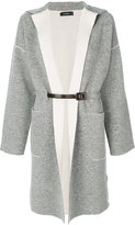 Cividini long belted cardigan