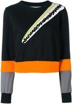 NO KA 'OI No Ka' Oi - flower embellished sweatshirt - women - Cotton/Polyamide/Spandex/Elastane - XS