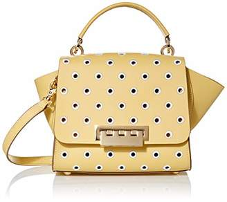 Zac Posen Eartha Top Handle Crossbody-Embroidered Polka Dot Yellow