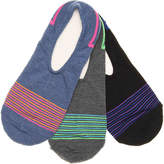 Converse Pin Stripe No Show Socks - 3 Pack - Women's