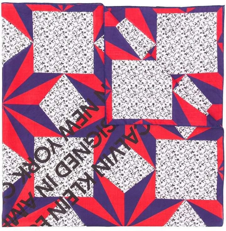 Calvin Klein printed scarf