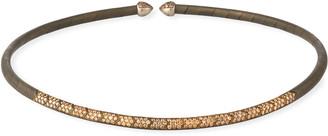 Etho Maria 18k White Gold, Titanium & Brown Diamond Choker