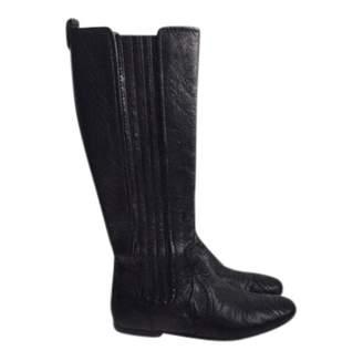 Balenciaga Boy Black Leather Boots