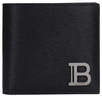 Balmain Wallet In Black Leather