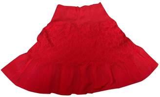 Sandro Red Cotton Skirts