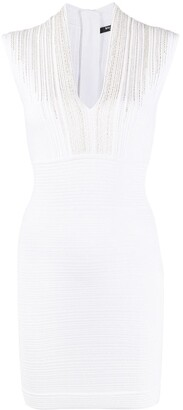 Balmain Lace Trim Bodycon Dress