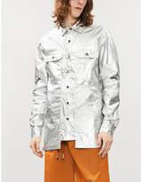Rick Owens DRKSHDW All-over metallic cotton jacket