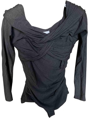 Carven Black Wool Top for Women