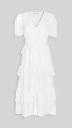 ENGLISH FACTORY Tiered Midi Shirtdress