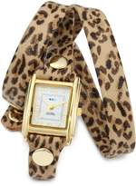 La Mer Women's LMSTW6002 Leopard Gold Triple Wrap Watch