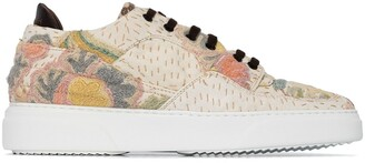 By Walid Floral-Embroidered Low-Top Sneakers