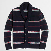 J.Crew Factory Lambswool Fair Isle cardigan sweater
