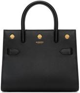 Burberry Black Mini Two-Handle Title Bag