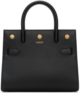 Burberry Black Mini Two-Handle Title Bag