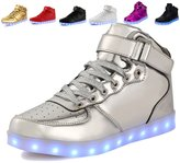Anluke 11 Colors LED Sneakers Light Up Flashing Shoes for Christmas Boys Girls Men and Women 44