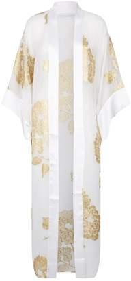 Marie France Van Damme Floral Sheer Kimono