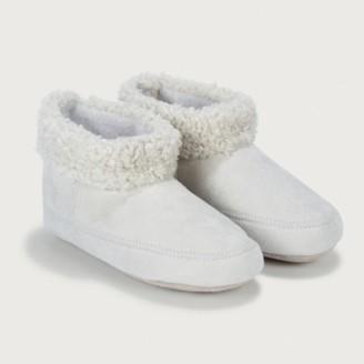 The White Company Children's Grey Slipper Boots, Grey, 3/4