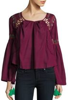Kas Embroidered Roundneck Top