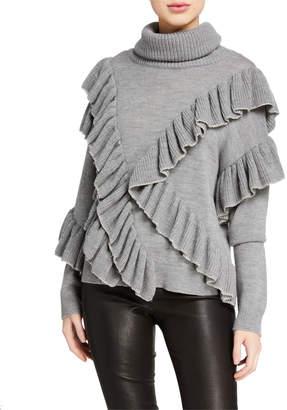 Alice + Olivia Libbie Ruffled Pullover Sweater