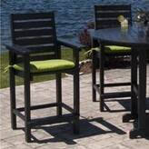 """Polywood Captain 3 Piece Bar Height Dining Set Finish: Black, Table Size: 36"""""""