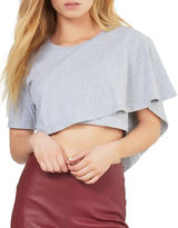 KENDALL + KYLIE Draped Cropped Tee